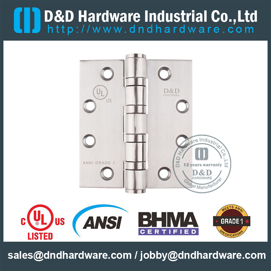 ANSI GRADE 1 DOOR HINGE with UL Listed -D & D HARDWARE
